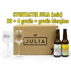 ACTIE: JULIA MIX BOX + GLAS: 39,95 euro!